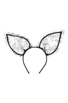 MAISON MICHEL Heidi rabbit ears headband