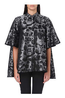 GIAMBATTISTA VALLI Metallic leopard shirt