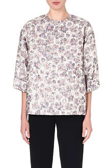 GIAMBATTISTA VALLI Silk-blend top