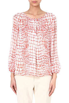 GIAMBATTISTA VALLI Croc-print silk top