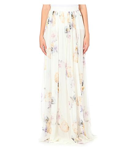 GIAMBATTISTA VALLI Floral silk maxi skirt (Pink