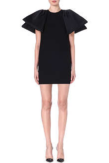 GIAMBATTISTA VALLI Pleat-sleeved wool dress