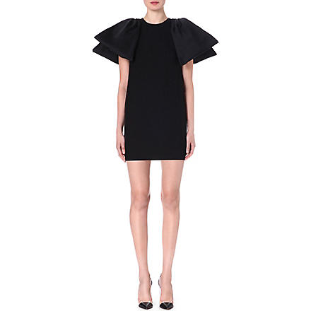 GIAMBATTISTA VALLI Pleat-sleeved wool dress (Black