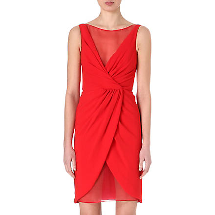 GIAMBATTISTA VALLI Draped silk dress (Red