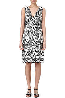 GIAMBATTISTA VALLI Paisley-embroidered dress