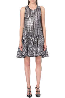 GIAMBATTISTA VALLI Sequin drop-waist dress