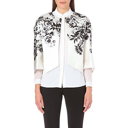 GIAMBATTISTA VALLI Floral satin jacket (Ivory