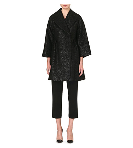GIAMBATTISTA VALLI Jacquard pea coat (Black