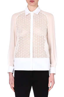 GIAMBATTISTA VALLI Embroidered lace shirt