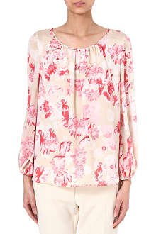 GIAMBATTISTA VALLI Floral-print silk top