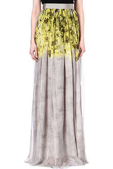 GIAMBATTISTA VALLI Silk flower print maxi skirt