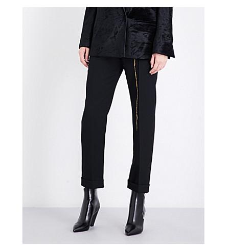 HAIDER ACKERMANN Calder straight cropped high-rise wool trousers (Black