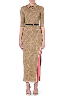 ALESSANDRA RICH Jacquard polo dress with trousers