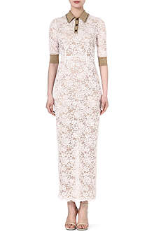 ALESSANDRA RICH Lace polo dress