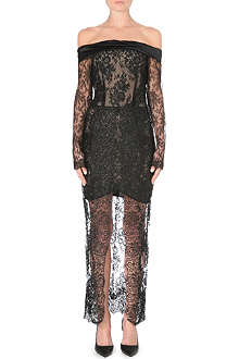 ALESSANDRA RICH Off-the-shoulder lace dress