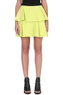 UNGARO Layered crepe mini skirt