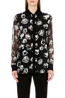 UNGARO Rose-print silk shirt
