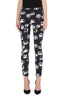 UNGARO Rose pattern slim-fit trousers