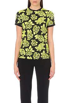 UNGARO Rose print t-shirt
