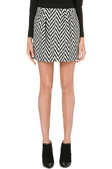 UNGARO Chevron-knit mini skirt