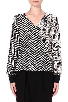 UNGARO Printed silk top