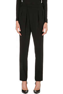 UNGARO Pleated-front wool trousers