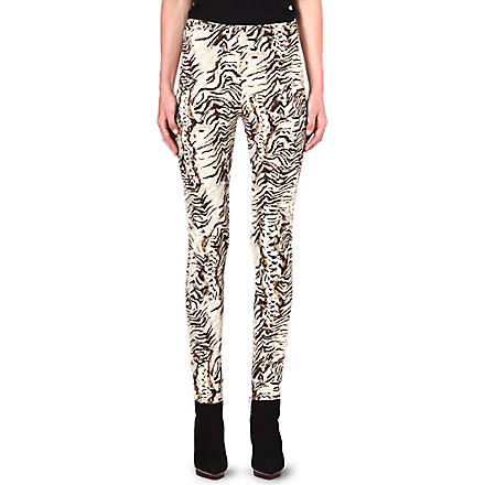 UNGARO Skinny-fit crepe trousers (Multi