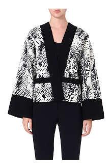 UNGARO V-neck abstract print kimono