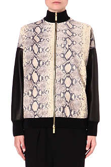 UNGARO Snake print leather jacket