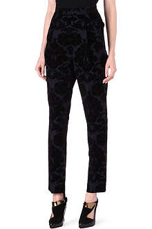 TOGA Contrast-print wool-blend trousers