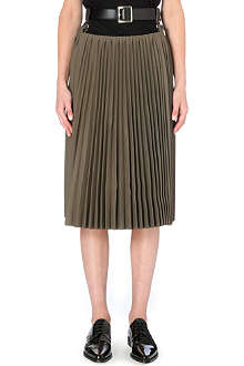TOGA Belted-waist pleated skirt