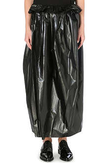 TOGA Laminated midi-length skirt