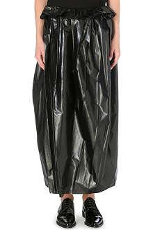 TOGA Laminated midi-length skirt