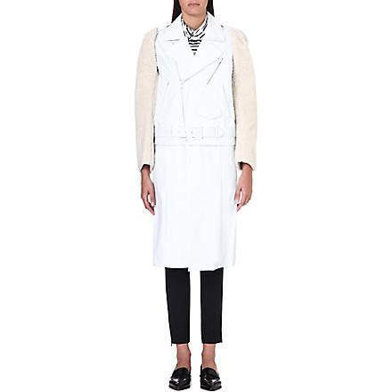 TOGA Faux fur-sleeve cotton coat (White