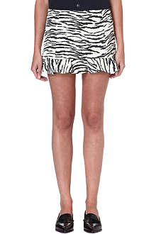 TOGA Zebra-print frilled mini skirt