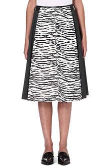 TOGA Zebra-print flared A-line skirt