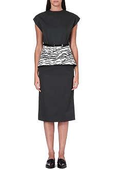 TOGA Peplum-waist twill dress