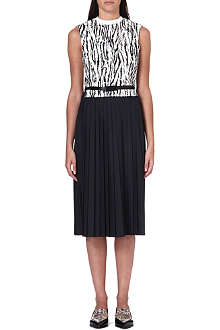 TOGA Sleeveless zebra-print dress