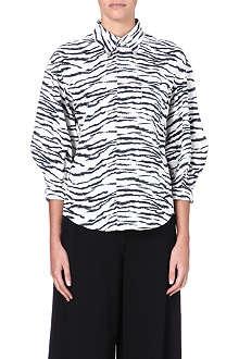TOGA Panelled cotton shirt