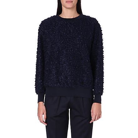 TOGA Bobble knit jumper (Navy