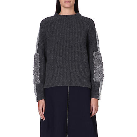 TOGA Rib elbow jumper (Grey