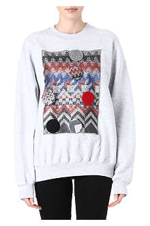 SADIE WILLIAMS Geometric-pattern sweatshirt