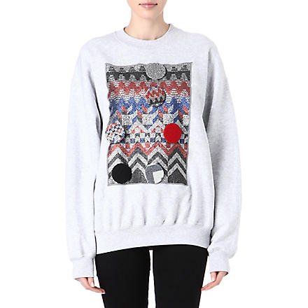 SADIE WILLIAMS Geometric-pattern sweatshirt (Grey