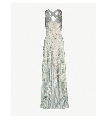 JENNY PACKHAM Fontaine sequinned gown (Steel