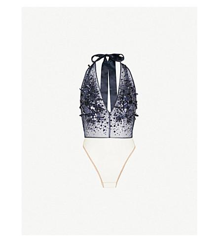 JENNY PACKHAM Embellished tulle body (Midnight