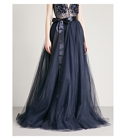 JENNY PACKHAM High-rise tulle skirt (Midnight