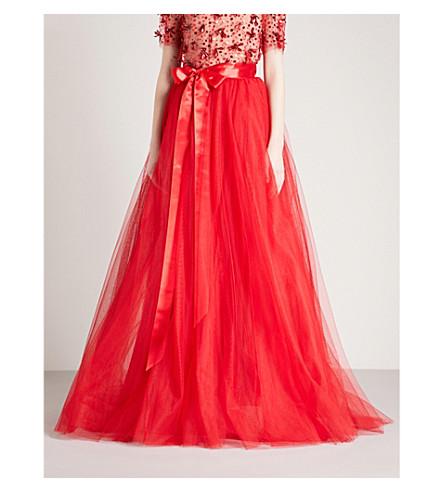 JENNY PACKHAM High-rise tulle skirt (Robin red