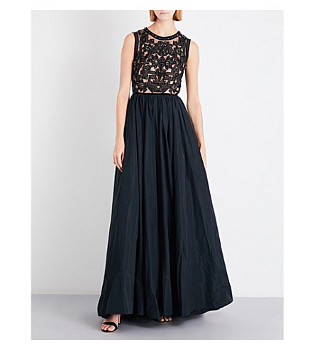 JENNY PACKHAM Cutout crystal-embellished tulle and taffeta gown (All+black
