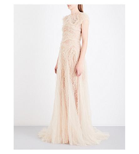 JENNY PACKHAM Embellished tulle gown (Illusion