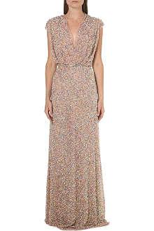 JENNY PACKHAM Sequin-embellished gown